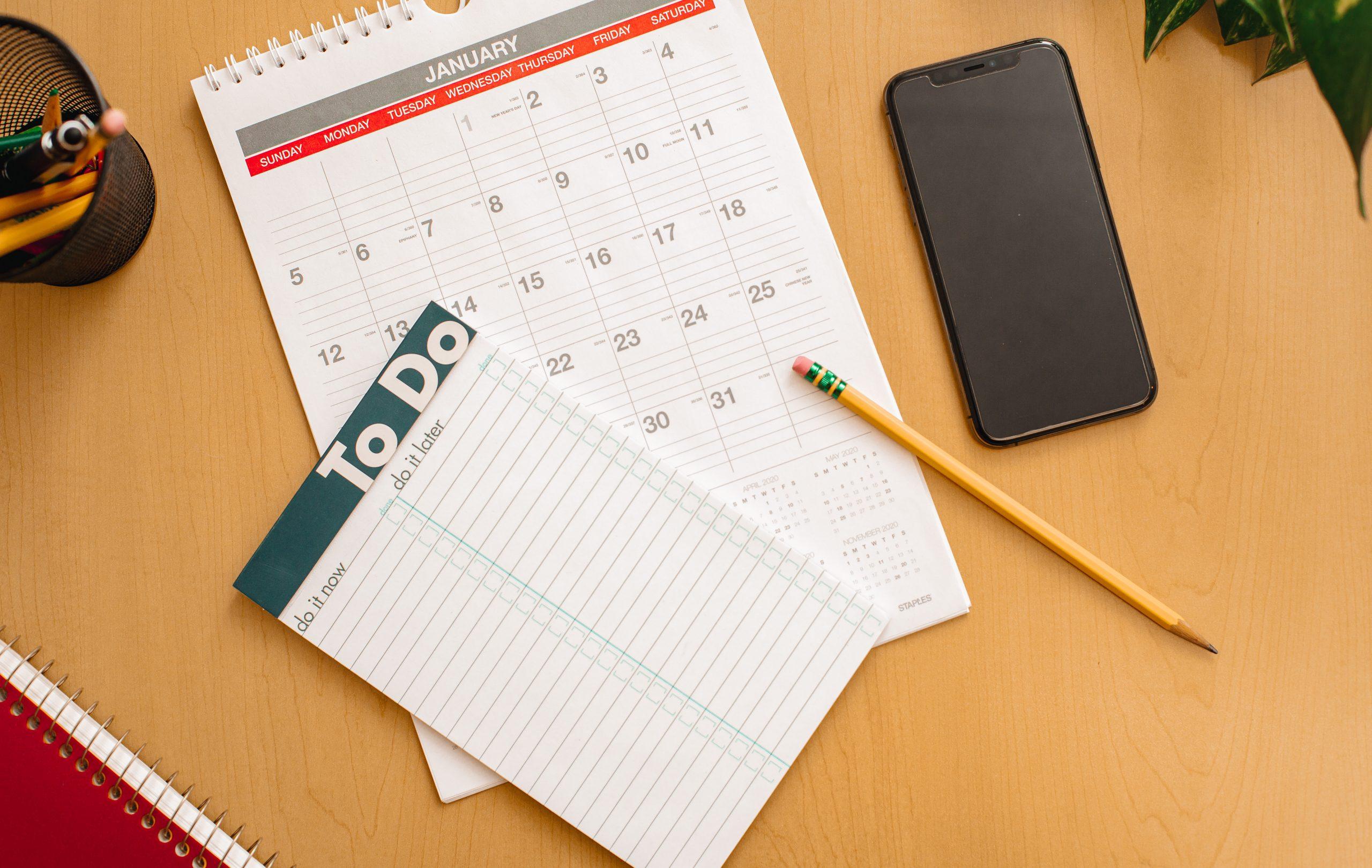 Calendar Schedule Cleaning